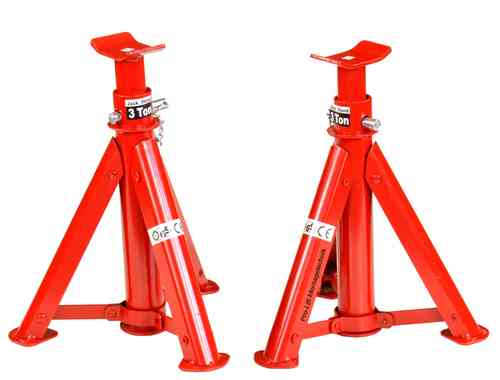 2x3t jack stand, support jacks, foldable, height 290mm-405mm, 43004T, 01425