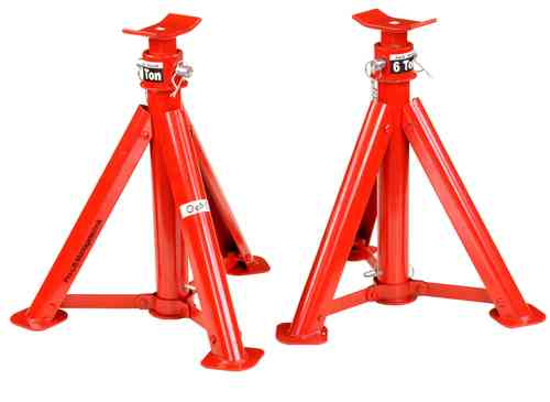 2x6t jack stand, support jacks, foldable, height 373mm-573mm, 46004T, 01426
