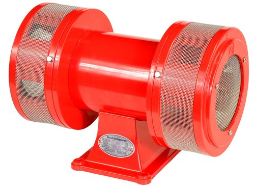 230V siren, electric siren with stand, extreme loud with 123dB, red, JDW145L, 01623