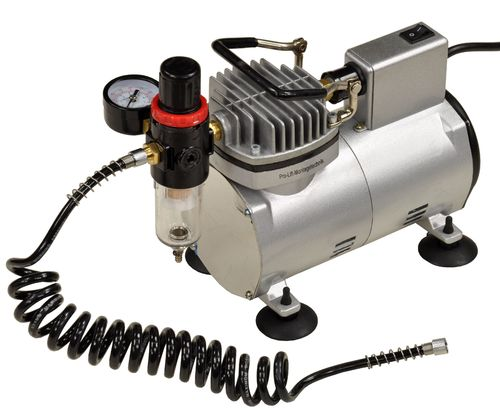 230V airbrush mini compressor, 23L/min, 4bar without tank, complete set, 01594