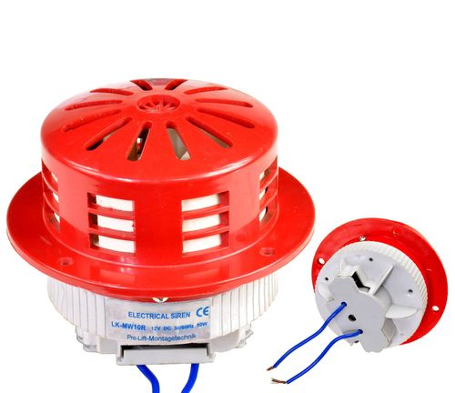 12V siren, mini electric siren, suitable for window installation, red/white, MW10RL, 01630