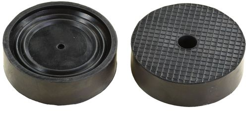 Rubber saddle pad for garage jack, round, outer diameter 99mm, RY8011T, 01794