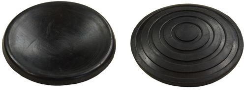 Rubber saddle pad for garage jack, round, outer diameter 96mm, 830018-2T, 01795