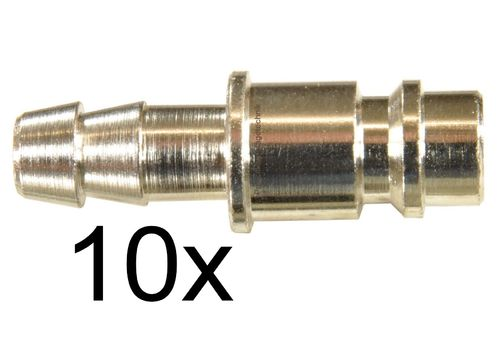 "10 pieces: 1/4"" quick coupling-counterpart: Male and spout for 8mm hose, 113C27S, 01999"