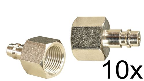 "10 pieces: 1/4"" quick coupling counterpart: male and 1/2"" inner thread, 113A31S, 02001"