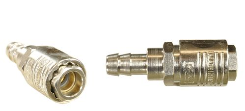 "1 piece 1/4"" quick coupling with ball bearing: female and nozzle for 10mm hose, 112C31S, 01604"