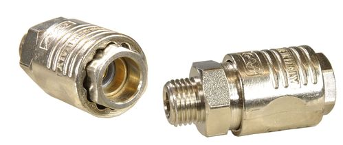 "1 piece 1/4"" quick coupling with ball bearing: female and 1/4"" external thread, 1121S, 01621"