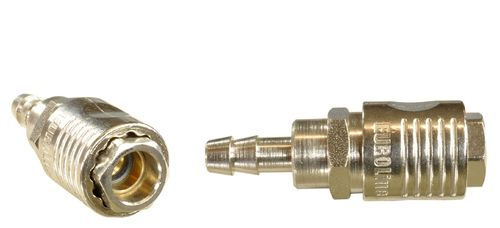 "1 piece 1/4"" quick coupling with ball bearing: female and nozzle for 8mm hose, 112C21S, 01605"