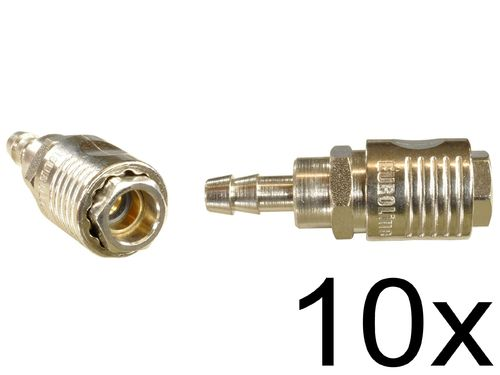 "10 pieces: 1/4"" quick coupling with ball bearing: Female and spout for 8mm hose, 112C11S, 01996"