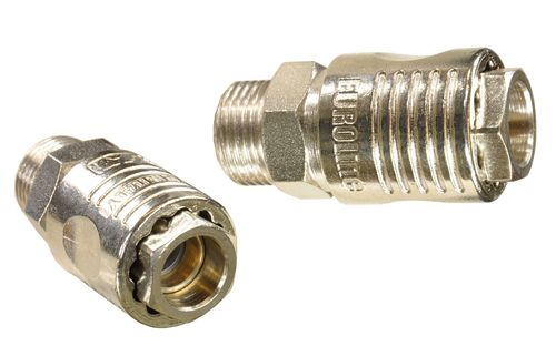 "1 piece 1/4"" quick coupling with ball bearing: female and 3/8"" external thread, 11221S, 01620"