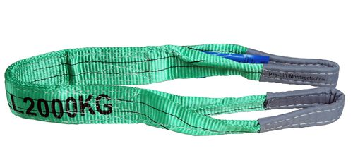 2t webbing sling, hoisting belt with 2 eyes, length 1m, 2 layers, WS21J, 02112