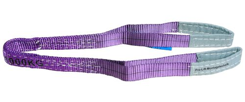 1t webbing sling, hoisting belt with 2 eyes, length 1m, 2 layers, WS11J, 02109