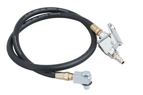 "Compressed air hose, 1/4"" connections, 1350mm incl. manual push button + angle piece,  HA1SJ, 02081"