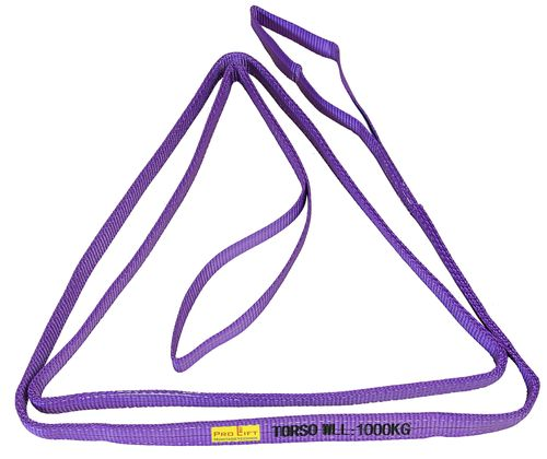 1t webbing sling, hoisting belt with 2 eyes, length 4m, 2 layers, WS14J, 02182