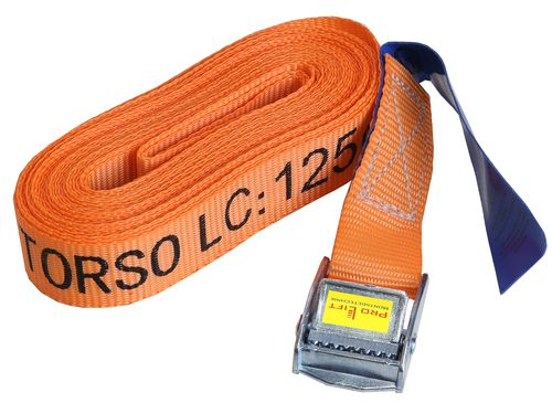 1 piece: 125kg/250kg lashing strap, fastening lock, length 6m, with hook, red, CL00125J, 02193