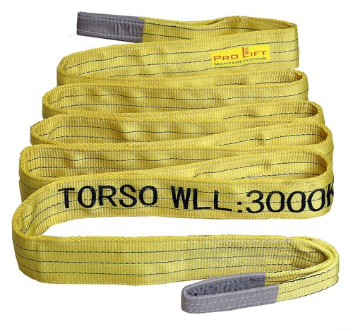 3t webbing sling, hoisting belt with 2 eyes, length 5m, 2 layers, WS35J, 02188
