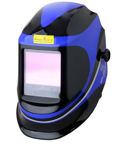 Solar Automatic welding helmet, Soldatech, blue/black, extra large viewing window, EWH980J, 02238