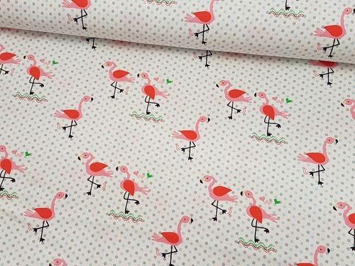 "Baumwoll-Jersey ""Flamingo"""