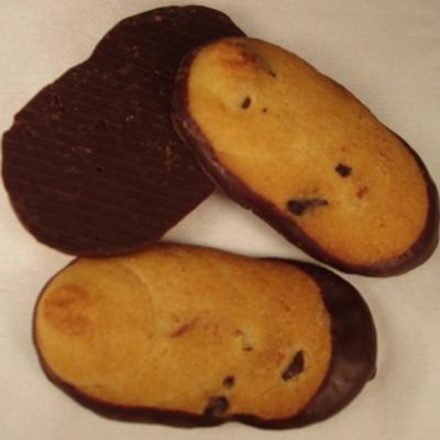 Schoko-Orangen-Zungen mit Zartbitterschokolade
