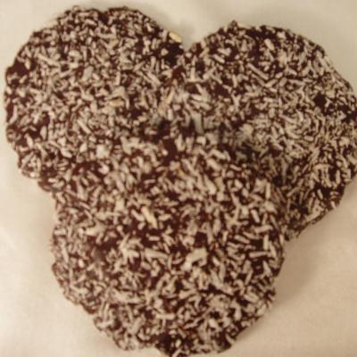 Dinkel-Knusper-Kokoswaffeln mit Zartbitterschokolade