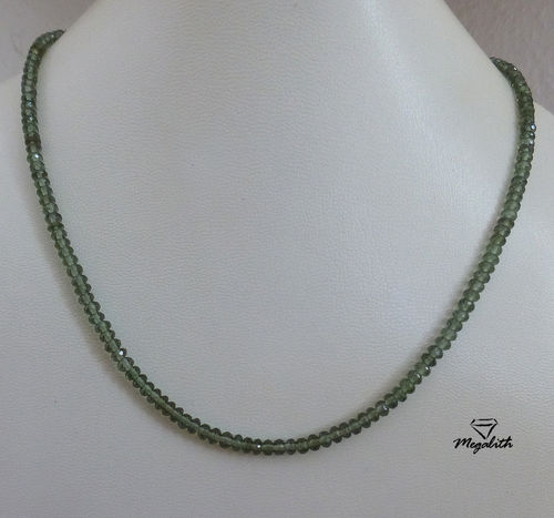 Moldavite Necklace fecetted