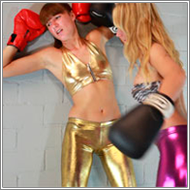 Boxing in shiny leggings – Inga vs Olga – HD