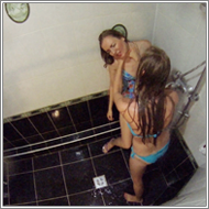 Fight in the shower - Emily vs Nastja - HD