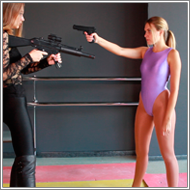 Renee and Blanca in shootout duel – HD