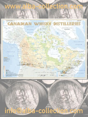 Whisky Distilleries Canada - RollUP 200x150cm