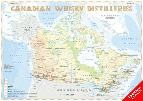 Whisky Distilleries Canada - Poster 60x42cm Premium Edition