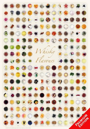 Whisky Flavours Collection - Poster 70x100cm Premium Edition