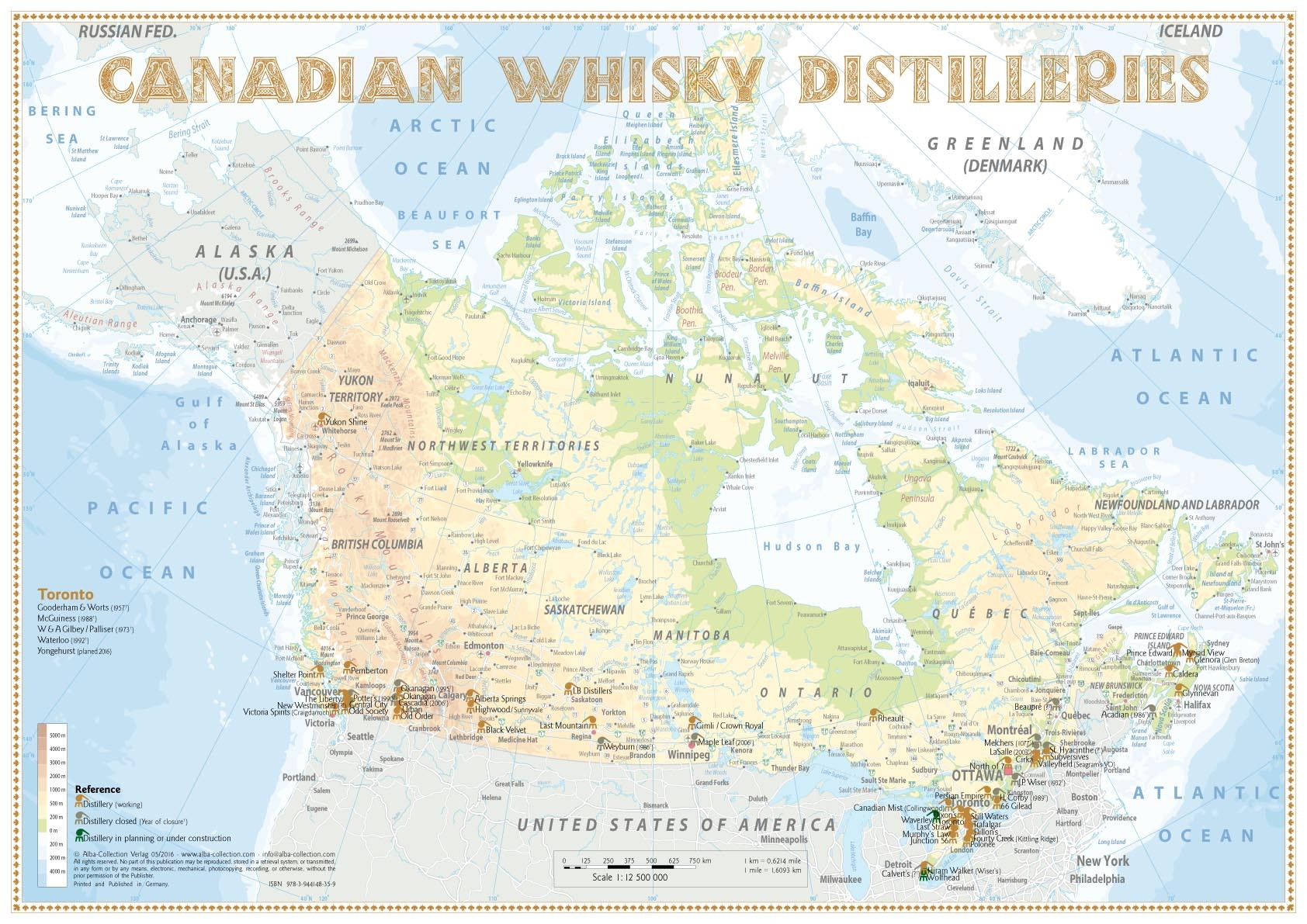 Whisky Distilleries Canada