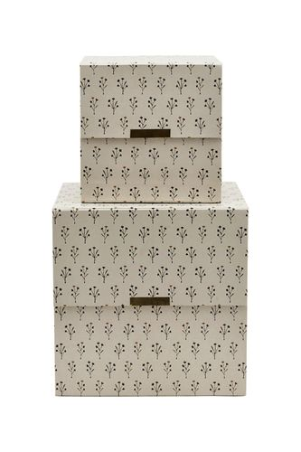 House Doctor Storage Floral beige 2er