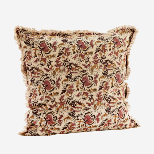 Madam Stoltz Cushion Printed Boho rose