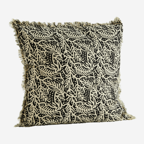 Madam Stoltz Cushion Printed black