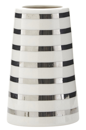House Doctor Vase Stripe silver