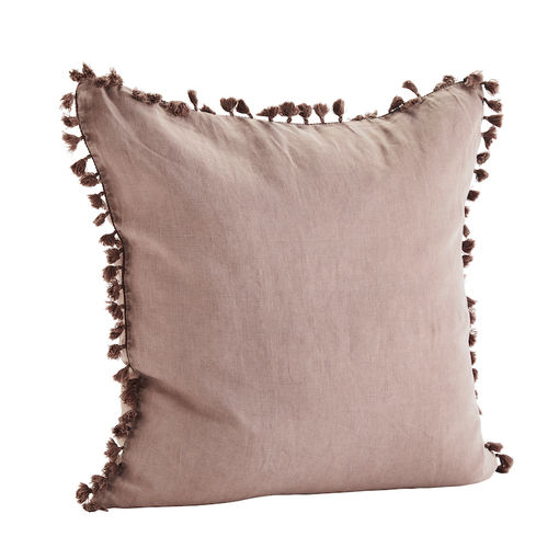 Madam Stoltz Cushion Cover rose Tassel