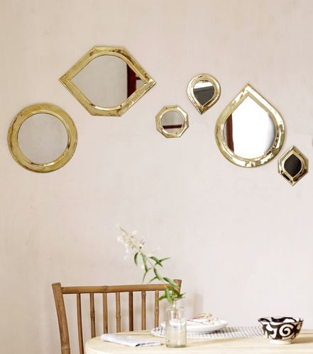 Tine K Mirror brass small