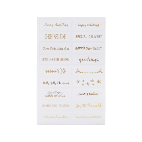Monograph Stickers Quotes gold