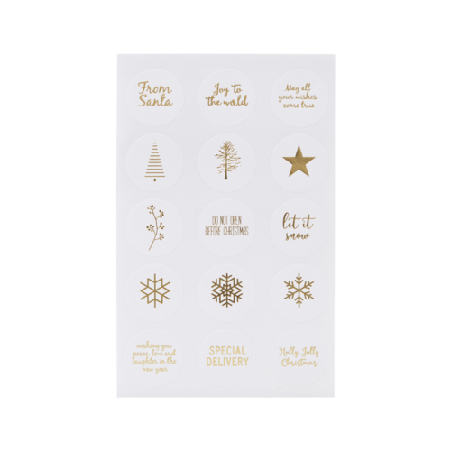 Monograph Stickers Mixed gold