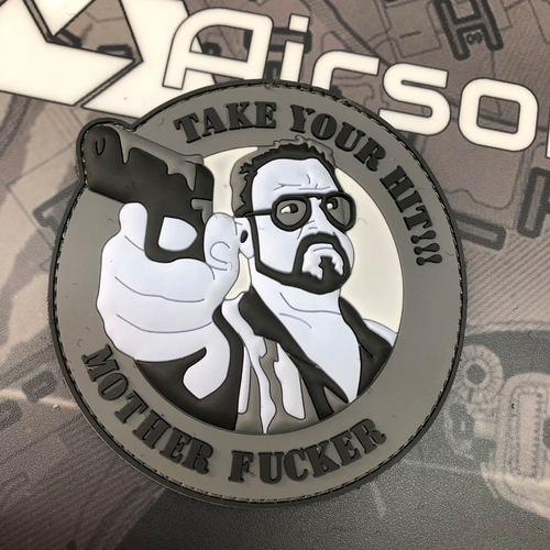 """Take your hit"" - 3D Rubber Patch"