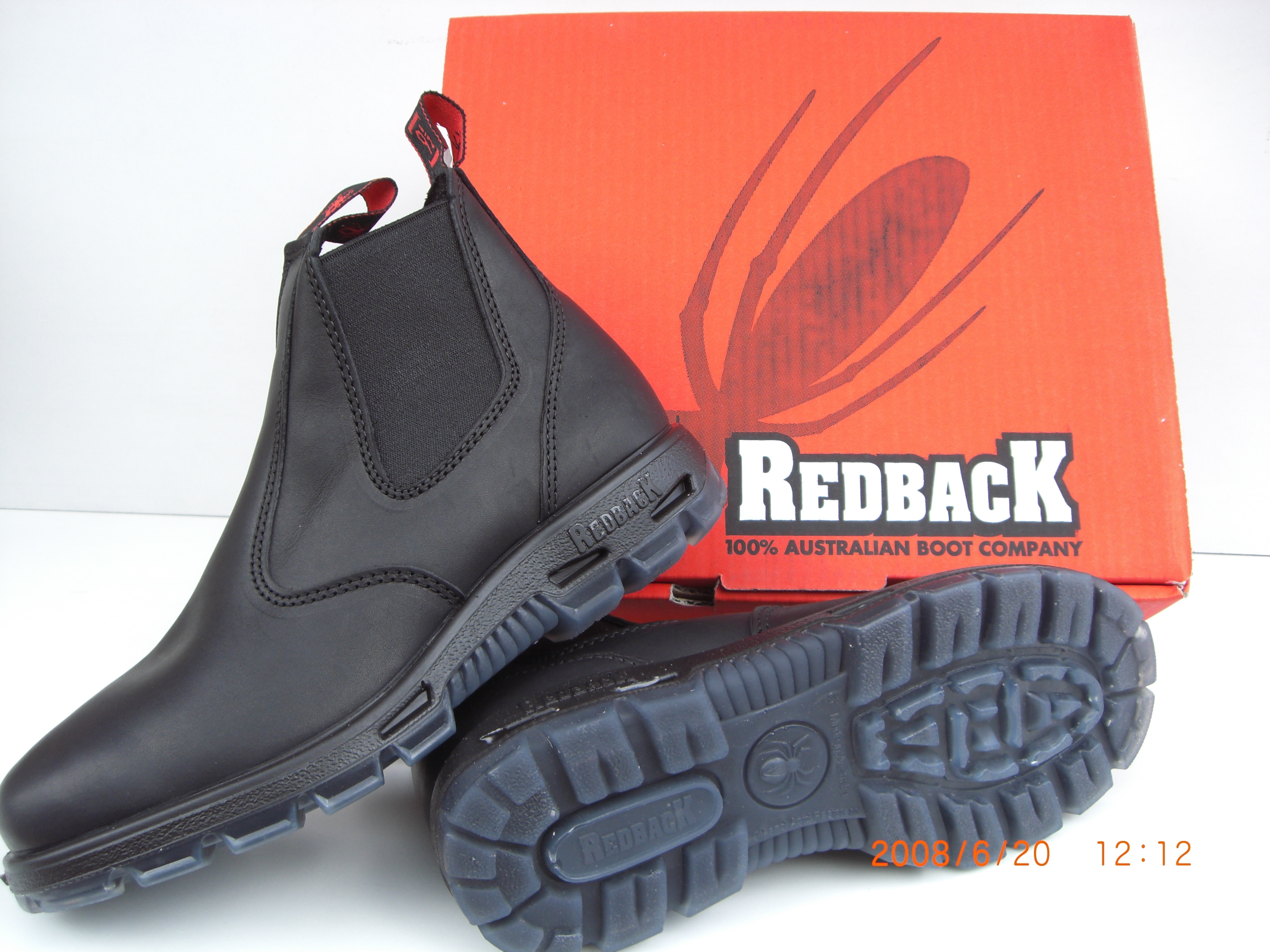 Australian Redback Boots USBBK with