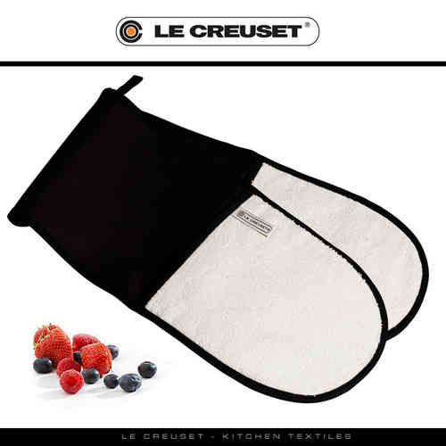 Le Creuset - Double Oven Glove - Black