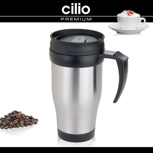 cilio - Car-Insulated drinking mug 0,4l - Stainless steel