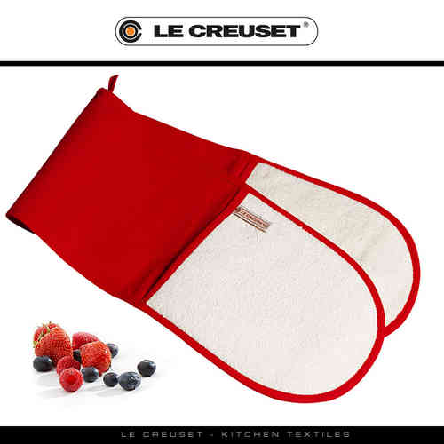 Le Creuset - Doppelhandschuh - Rot