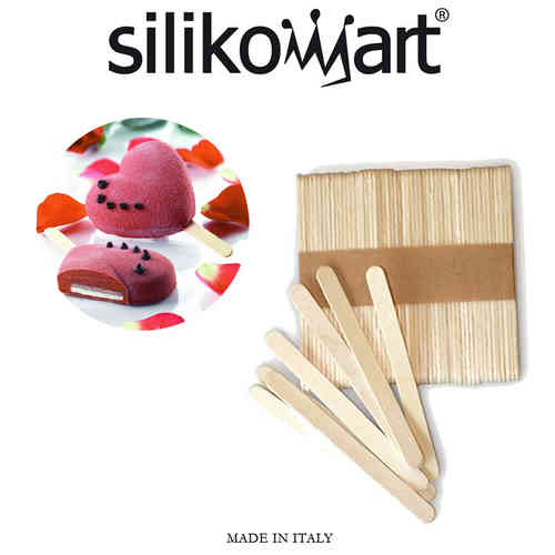Silikomart - 100 beech wood sticks