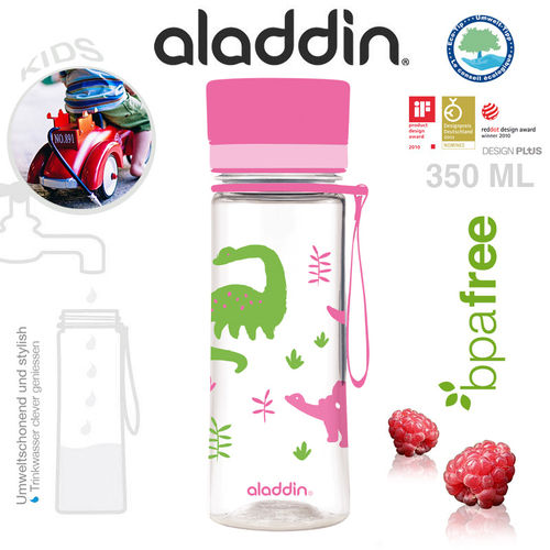 aladdin - Aveo Water Bottle - Kids Pink 350 ml