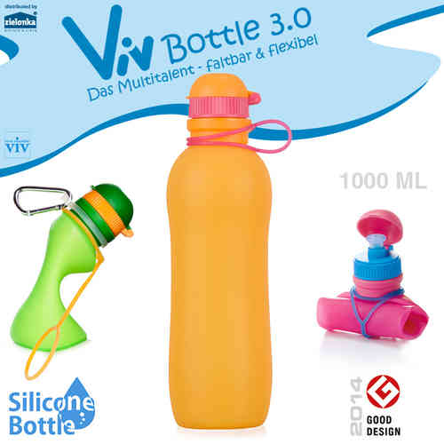 Viv Bottle 3.0 - Foldable Bottle - Orange 1000 ml