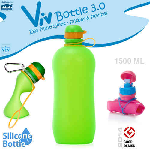 Viv Bottle 3.0 - Foldable Bottle - Green 1500 ml
