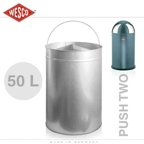 Wesco - Einsatz 50 Liter Metall - Push Two
